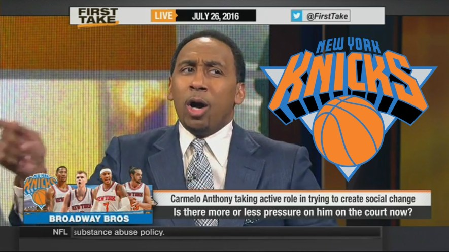 Stephen A. Smith said he was done with The Knicks but....he's back