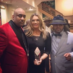 "Tiffon ""Pop"" Dunn (left) with Lisa Evers and KD"