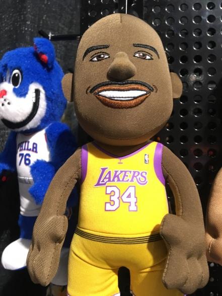 Shaq plushie doll at Toy Fair 2019
