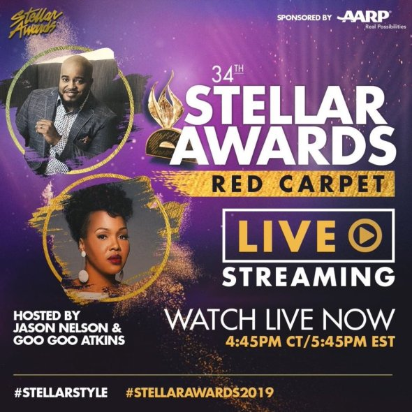 The Stellar Awards is LIVE STREAMING right now. It's a wonderful program for believers.