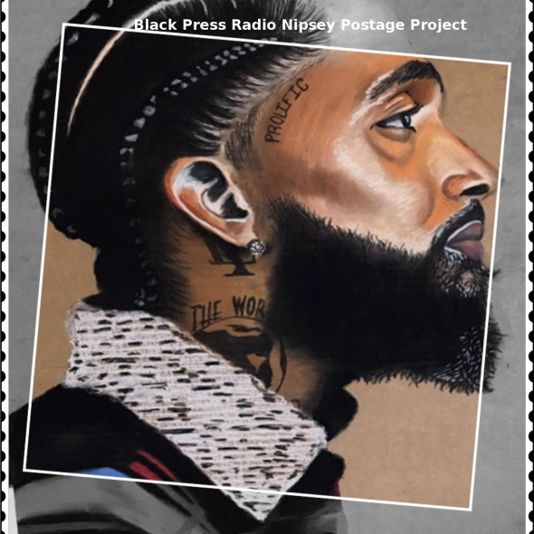 Nipsey Hussle postage stamp proposal by BlackPressRadio