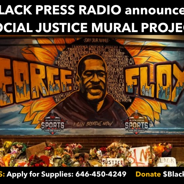 BlackPressRadio announced Social Justice Mural Project honoring George Floyd
