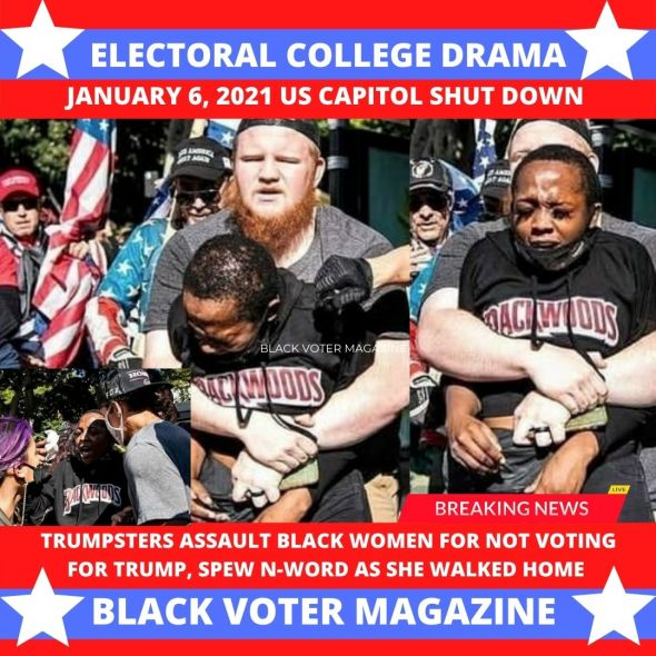 Black Woman Assaulted by Trumpsters MAGA in Hate Crime