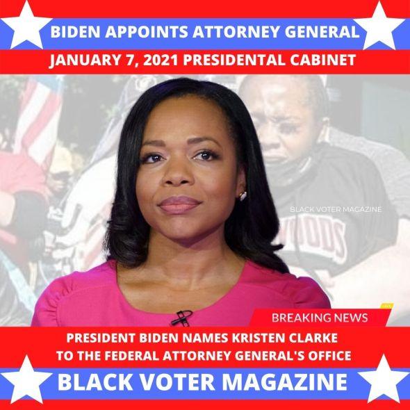 Kristen Clarked named to Biden Cabinet Civil Rights Division